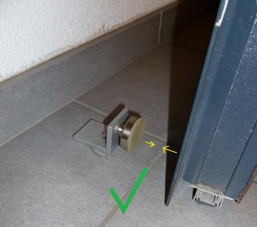 Aplicaciones magn ticas im n en recipiente como tope de - Topes para puertas ...